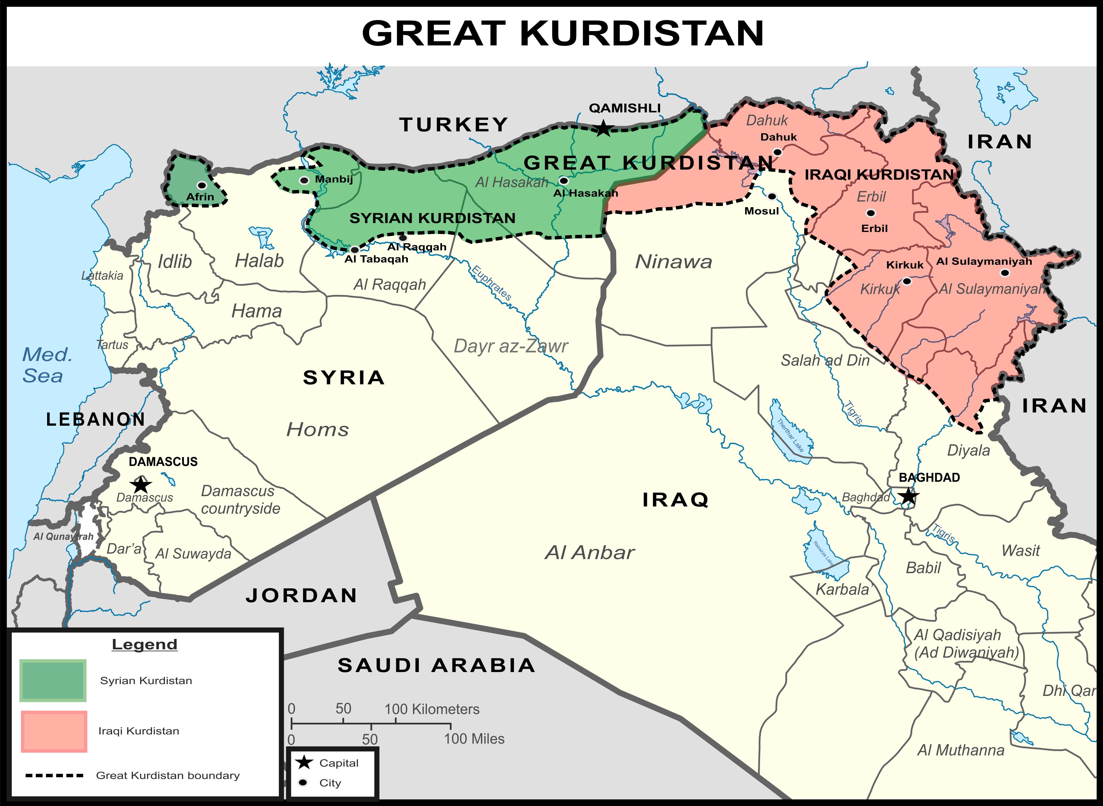 Washington Sponsored State of Great Kurdistan To Be Created in
