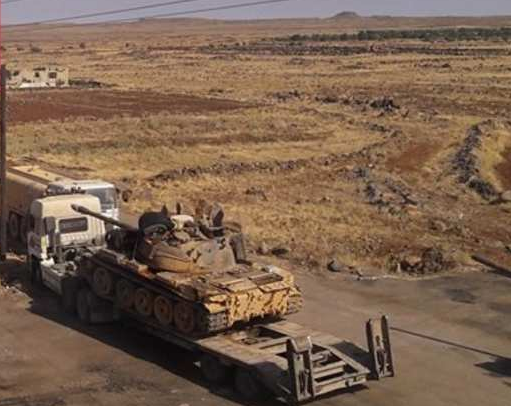 The SAA surge reinforcement was spotted in the eastern part of Palmyra and in Khamimah area