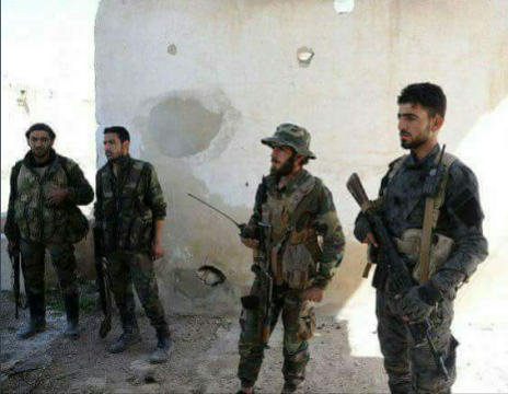 After a fight with the radicals in Wadi Ayn Tarma area