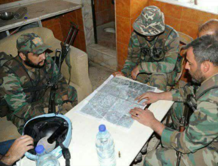 A military briefing with the SAA's commanders